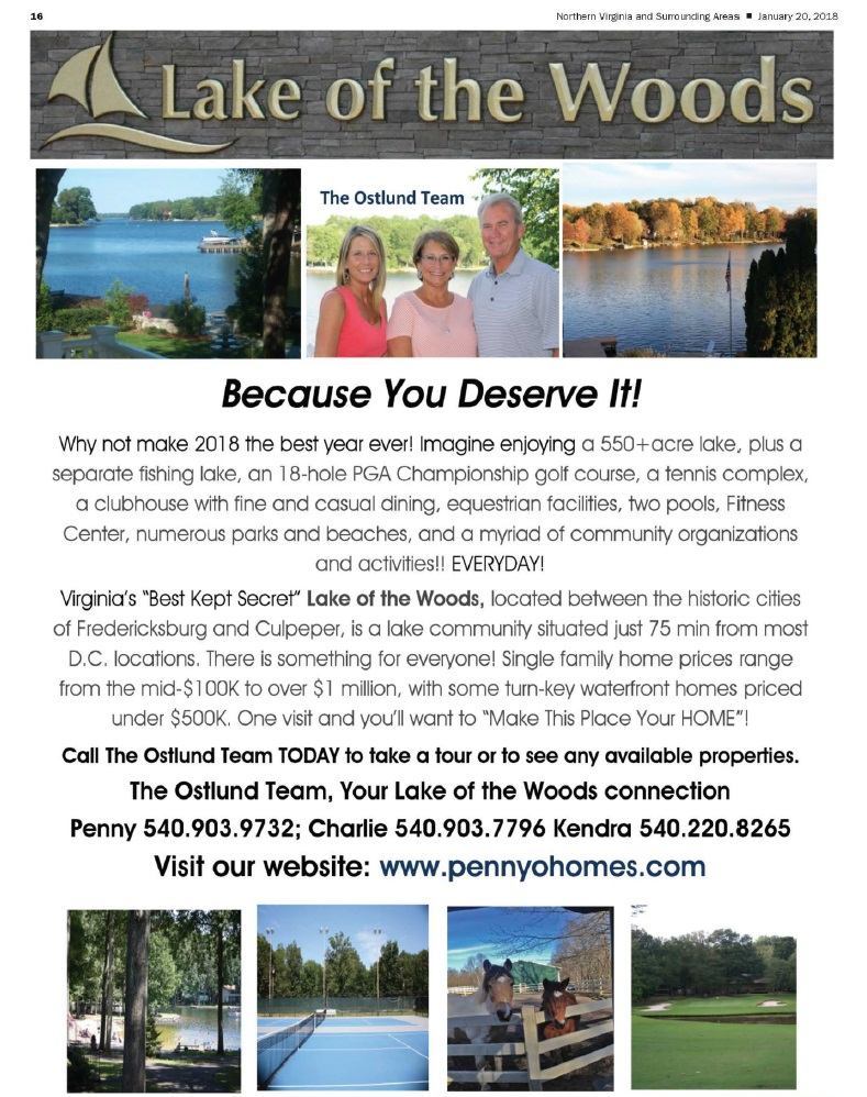 Lake of the Woods, VA - Because You Deserve It! - The Ostlund Team ...
