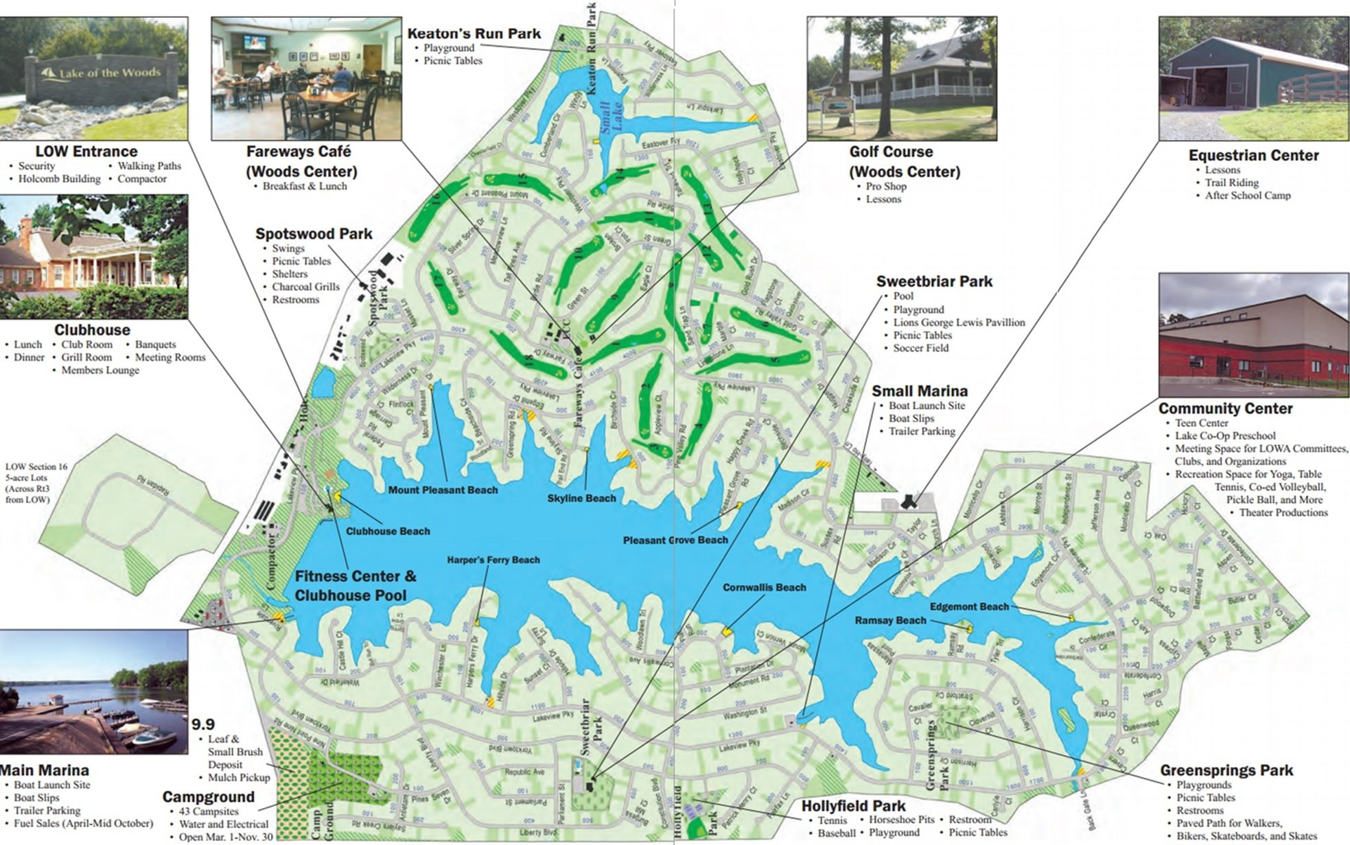 LOW | Lake of the Woods VA Amenities Map