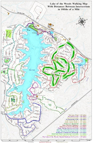 Lake of the Woods Walking Trails Map The Ostlund Team realors