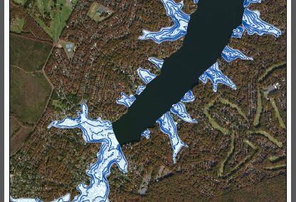 Lake Depth Map of Lake of the Woods VA The Ostlund Team, Realtors