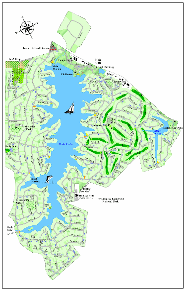 Map of Lake of the Woods VA The Ostlund Team realtors